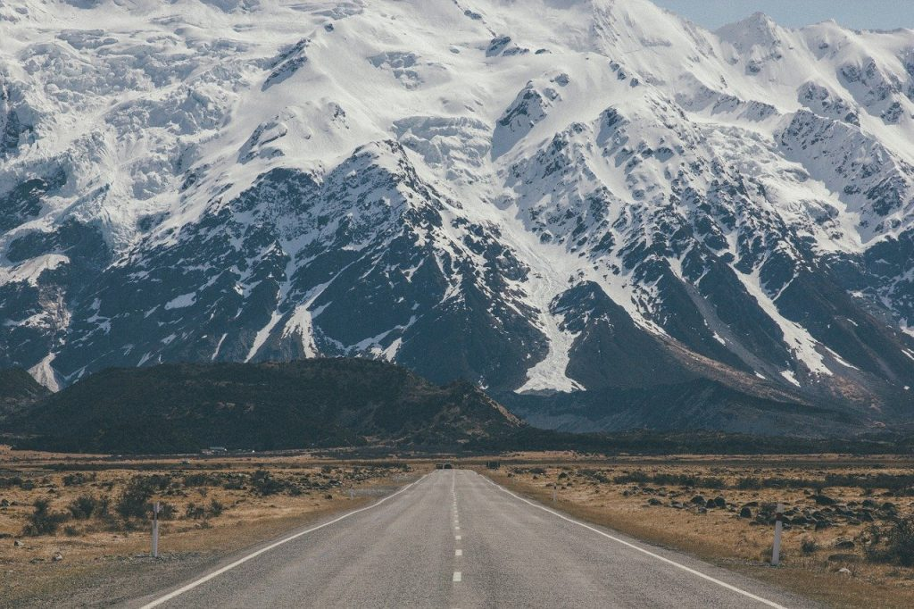 roadway, mountains landscape, landscape